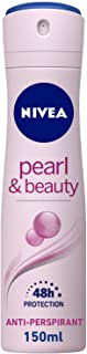 NIVEA Pearl & Beauty, Antiperspirant for Women, Pearl Extracts, Spray 150ml
