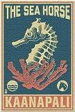 SWAOOS Rompecabezas 1000 Piezas Piezas de Rompecabezas KaanapaliHawaiCaballito de mar Wooblock Blue an Pink Jisaw Piece Juegos Infantiles Juguetes Casual de Arte