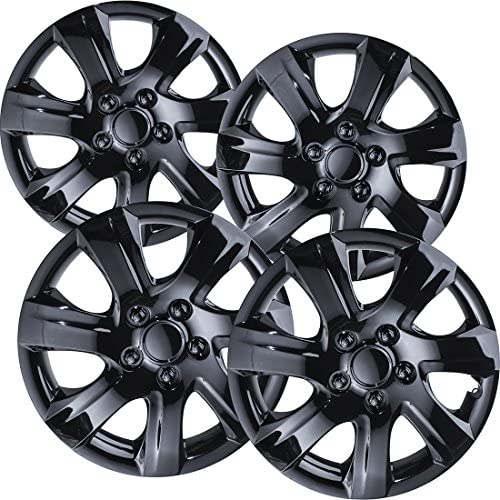 16 inch Hubcaps Best for 2010 2011 Toyota Camry Set of 4 Wheel Covers 16in Hub Caps Black Rim product image