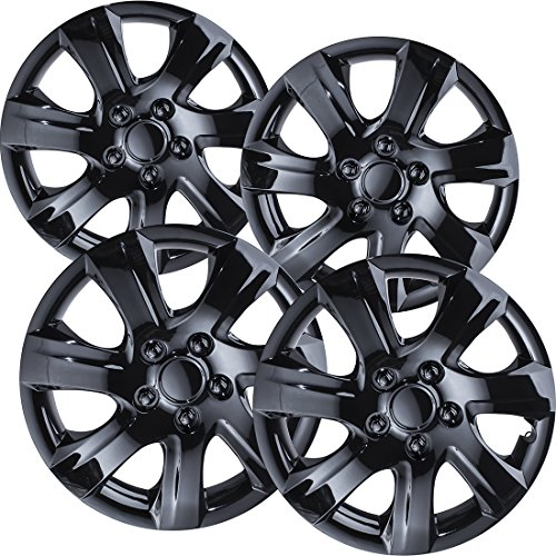 16 inch Hubcaps Best for 2010-2011 Toyota Camry - (Set of 4) Wheel Covers 16in Hub Caps Black Rim Cover - Car Accessories for 16 inch Wheels - Snap On Hubcap, Auto Tire Replacement Exterior Cap
