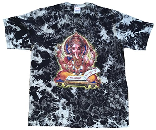 TICILA Maglietta da uomo nera Lord Ganesh Ganesha Rockstar Vintage Tattoo Design Nero XXL