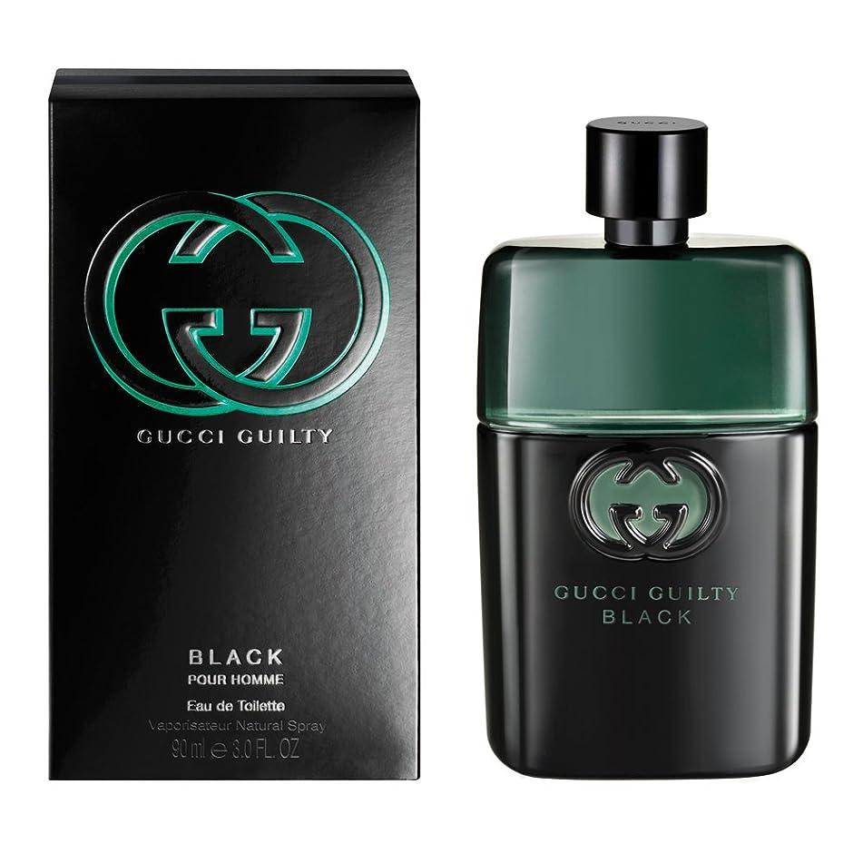 ??c?i Guilty Black Pour Homme Eau De Toilette Spray For Men 3 FL. OZ./90 ml
