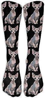 Hunter qiang, Sphynx - Calcetines largos para hombre y mujer, 50 cm de largo