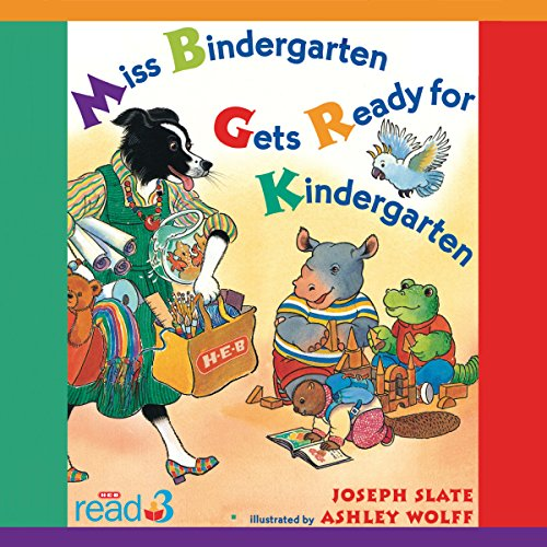 Miss Bindergarten Gets Ready for Kindergarten audiobook cover art