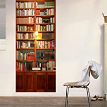 SENGE Bookcase Door Murals Door Stickers 30.3