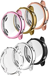 Five Star Online Screen Protector Cover Case Compatible with Samsung Galaxy Watch Active,All Around Slim Plated TPU Scratch-Resist Frame Protective Bumper Shell Cover for Galaxy Watch Active 40mm Smartwatch,6Pack