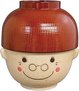 サンアート かわいい食器 「 まんぷくシリーズ 敬老 」 おばあちゃん(ばーば) 汁椀・茶碗 セット(レンジ・食洗機OK) 370g SAN2543-4