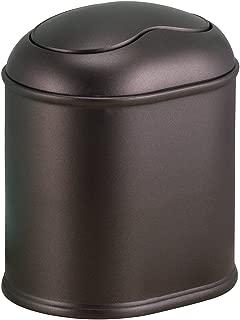 InterDesign York Vanity Countertop Wastebasket Trash Can