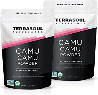 Terrasoul Superfoods Organic Camu Camu Powder, 7 Oz (2 Pack) - Raw | Vitamin C | Immune Support