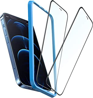 UGREEN 2-Pack Screen Protector for iPhone 12Pro Max 6.7-inch Premium Tempered Glass Protective Cover Film Full Coverage Al...