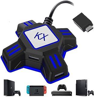 【2020升级版 】KXマウスコンバーターキーボードおよびマウスコンバーターキーボードマウス接続アダプタースイッチ/ Xboxone / Nintendo Switch / PS4 / PS3 / Xbox One /対応およびその他のサポート