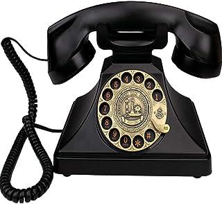 Retro Phone Rotary Dial, Creative Fashion Office Home Wired Vintage Retro Telephone Landline Retro Landline