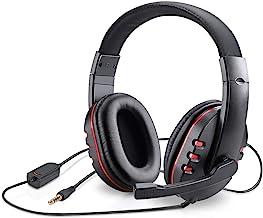 هدست گیمینگ picozon با خروجی 3.5mm به همراه میکروفون، مناسب برای PS4, Playstation Vita, Mac, لپتاپ, تبلت,کامپیوتر و تلفن همراه