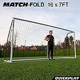 [クイックプレイ] 組み立て式 サッカーゴール 5m×2m MF216 UPVCフレーム 折りたたみ サッカー ゴール