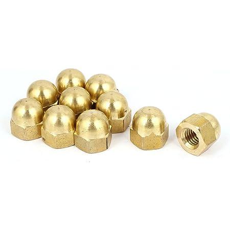 uxcell M3 Thread Dia Dome Head Brass Cap Acorn Hex Nuts 20pcs