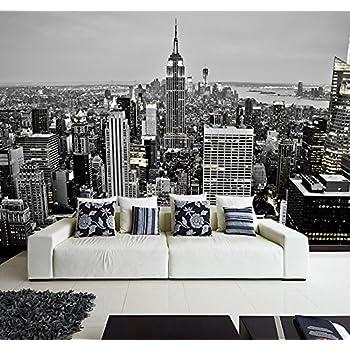 Fotomural Vinilo Pared Nueva York Blanco y Negro | Fotomural para Paredes | Mural | Vinilo Decorativo | Varias Medidas 100 x 70 cm | Decoración comedores, Salones, Habitaciones.: Amazon.es: Hogar