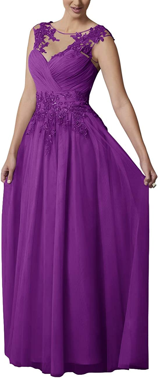 Women's Lace Mother of The Bride Dress Evening Formal Gowns Long Chiffon
