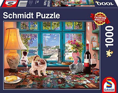 Schmidt Spiele Puzzle 58344 - Am Puzzletisch, 1.000 Teile Puzzle