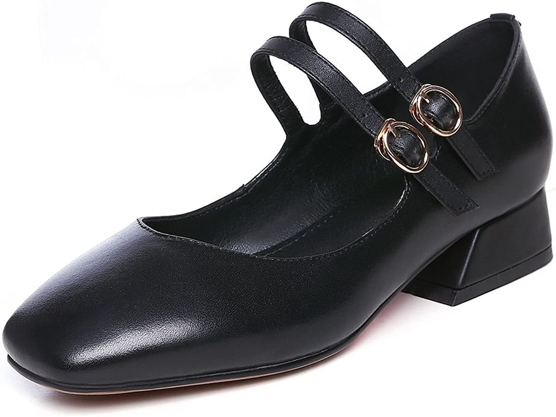 Kaloosh Elegant Ladies Ballet Flats for Women Square Toe Double Row Cingulate Pumps shoes