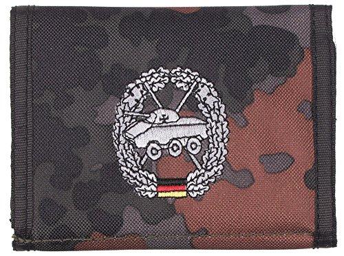 Nylongeldbörse, flecktarn, Panzeraufkl.,Klettv.,Ausweisf.