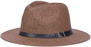 SHENLIJUAN British Jazz hat Linen Simple Sunscreen hat Visor (Color : Coffee)