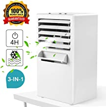 Air Conditioner Fan,Citus Desktop Small Personal Cooling Fan for Nearby Use up to 3Ft,Mini Space Air Cooler Misting Circulator Humidifier,w/Gift Box,2019 Upgraded,9.5-inch (White)