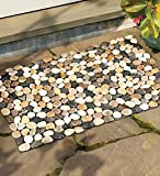 Wind & Weather Indoor/Outdoor River Rock Floor Mat, 19-1/2''H x 30''W