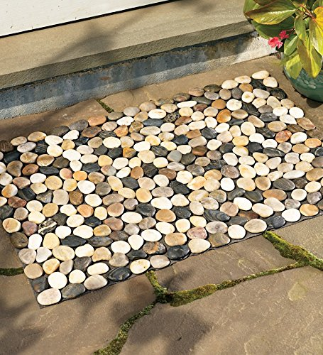 19-1//2H x 30W Indoor//Outdoor River Rock Floor Mat