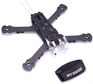FPVDrone 230mm FPV Racing Drone Frame 5 Inch Carbon Fiber Quadcopter Frame Kit 4mm Arms and LiPo Battery Strap