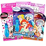 Disney Princess Paint with Water Super Set for Girls Bundle ~ 3 Deluxe Paint Books with Water Surprise Brushes (Disney Princess, Frozen, Minnie Mouse)