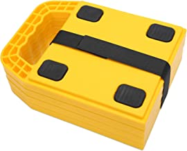 Homeon Wheels Stabilizing Jack Pads for RV, Camper Leveling Blocks Help Prevent Jacks from Sinking,6.3''X 6.3'' (Pack of 4)
