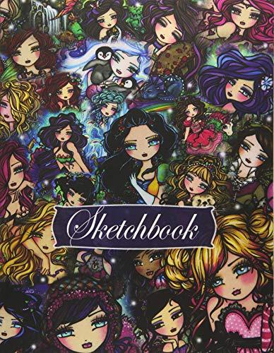 Sketchbook: Whimsy Girls Collage Hannah Lynn Art (Full Size)