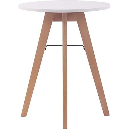 Table Ronde de Cuisine Viktor - Table de Salle à Manger avec Plateau en MDF - Table de Bistro Pieds en Bois de Chêne - Taille :, Taille:60 cm