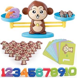 Xcaptain バランスゲーム 子供 天秤 知育玩具 セット 指先訓練 数字の基礎を覚える 子ども んびん 子供 キッズ 足し算 引き算 幼児 数のお勉強 子ども 幼児 知育 オモチャ 玩具 幼稚園 教具