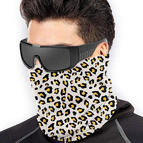 Bandana voor Rave Gezicht Masker Nek Gaiter Tube Masker Hoofddeksels Masker - Luipaard Print Mosterd Geel