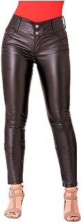 LOWLA Colombian Faux Leather Pants Jeans for Women Pantalones de Mujer Colombianos Levanta Cola Black 6