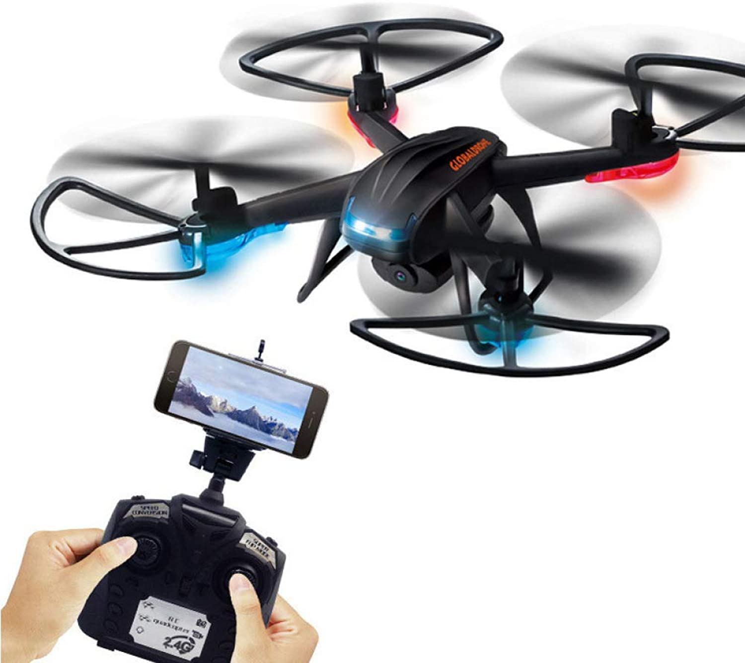 ERKEJI Drone remote Control fouraxis aircraft pneumatic fixed height toy aircraft 1080P aerial photo WIFI FPV VR