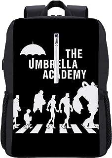 The Umbrella Academy Abbey Road - Mochila para ordenador portátil, con puerto de carga USB