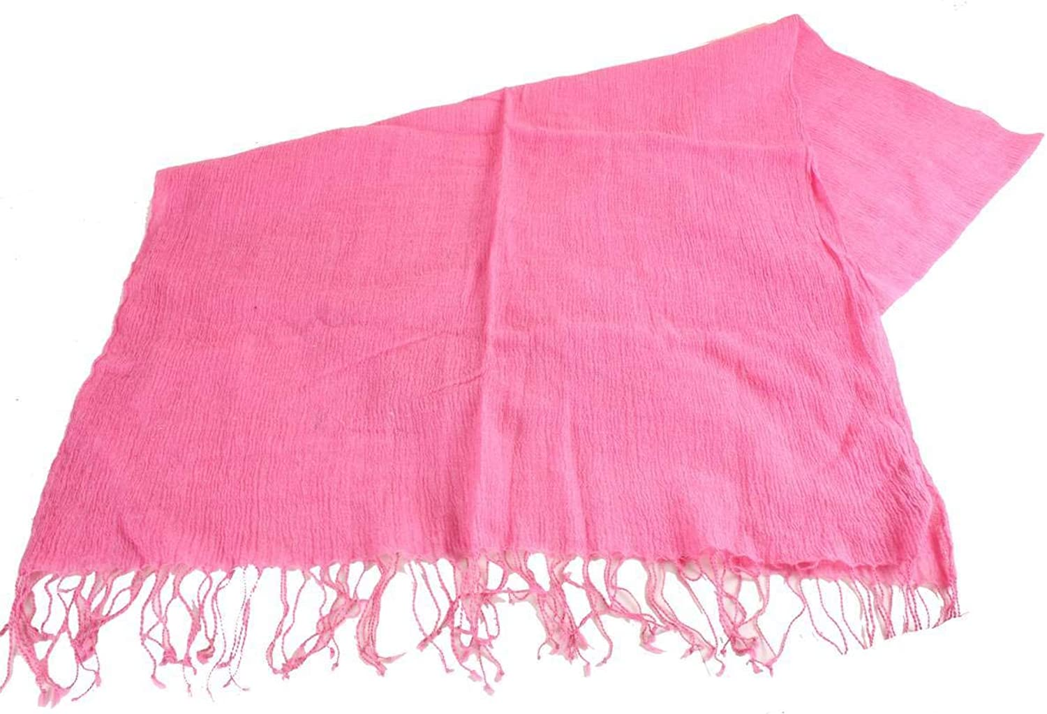 Bassin and Brown Womens Greenwood Plain Textured Scarf  Pink