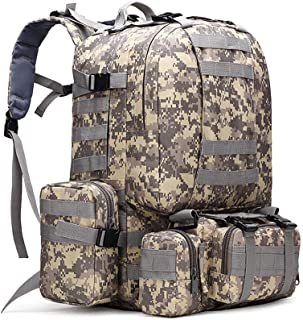 outdoor backpackOutlife 50L Outdoor Backpack Military Tactical Rucksack Sports Bag Waterproof Camping Hiking Backpack For Travel