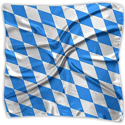 Uridy Multi-Colors Design Square Satin Damen Halstuch Schals Bavaria Flag