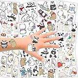 SZSMART Tiere Temporäre Tattoos Kinder, Bär Tattoos Set Panda Kindertatoo Fake Tattoos Kindertatoo...