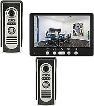Videodeurbel, Intercom, Bekabelde Deurkijker Deurinvoersysteem, IR Nachtzicht Videodeurtelefoon Voor Huisbeveiliging, 7 In...