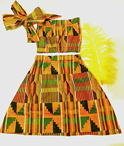 African skirt/African babygirl clothes/baby set/ headwrap/Newborn clothes/African clothing/Ankara skirt/Kente Fabric/Girl skirt/African clothing/Kente skirt