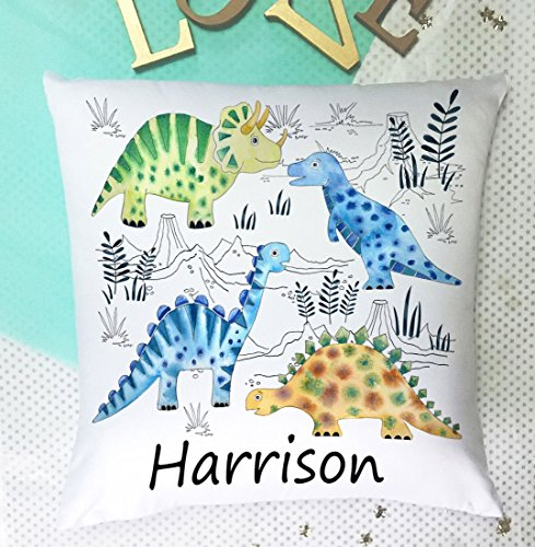 tigerlilyprints Personalised Boys Cushion-Large 40 cm -Pad included-Baby Boy Christening Gift