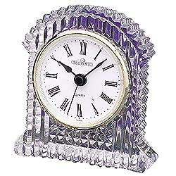 Office Desk Table Lead Crystal Clock (4H X 3 1/2W)