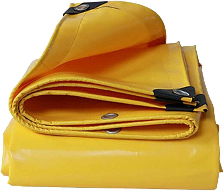 XWN Tarpaulin Outdoor-Dicke Wasserdichte Schatten Schatten Schatten Tuch LKW-Plane gelb 500g \ m2-0.5MM (größe   5X 6m) B07DYL3ZVX  Flut Schuhe Liste 3705b3