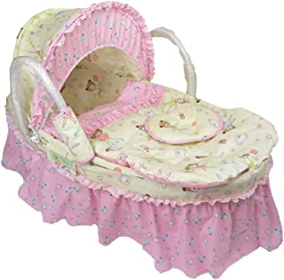 YXGH@ Newborn Baby Moses Basket Out-of-Car Basket Sleeping Straw Basket Bed Nursery Infant Portable Travel Beds for 0-1-9 Months