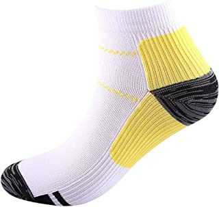1 Pack Compression Socks for Women and Men, Arch Support Low Cut Running Gym Golf Socks Athletic Ankle Socks