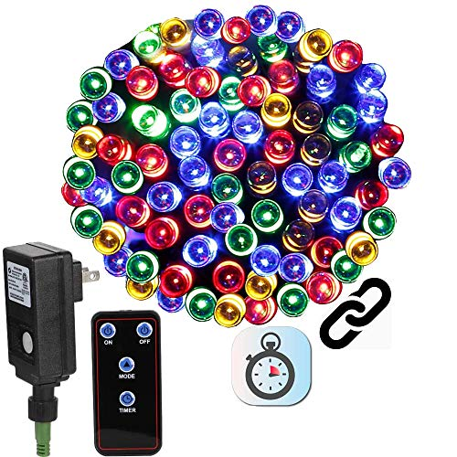 LED String Lights with Remote Timer Controller, Christmas Tree Lights Connectable